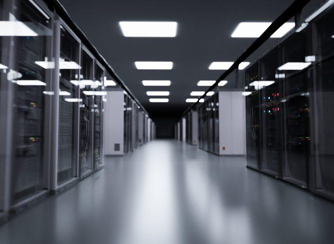 Server room, modern data center. 3D illustration